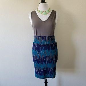 LuLaRoe Pencil Multi-Color Skirt S